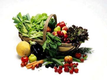 Trug of vegetables